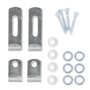 HANGING MIRROR/GLASS ADJUSTABLE KIT Wall Bracket Mounting Clip Set Screw Fixings