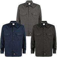 Dickies Long Sleeve Work Shirt Herren-Hemd Langarmhemd WL576 Slim Fit