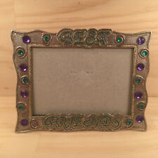 """BEST FRIENDS """"Silver"""" Beautiful Glittery Bling Photo Frame Metal Picture Display"""