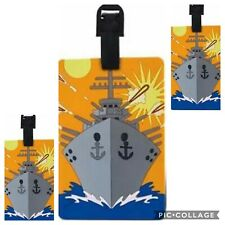3 TAGS LOT Battleship Anchor Navy Nautical Luggage Tag Backpack ID Cruise Ship