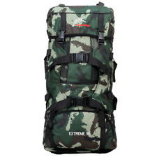 90L Outdoor Camouflage Backpack Mountain Bag Military Hiking Rucksack Green