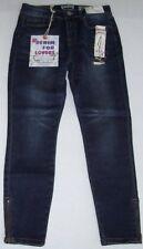 NWT Indigo Rein Mid-Rise Denim SKINNY ANKLET Blue Jeans 9 ZIPPER BOTTOMS