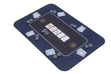 More details for the broadway poker mat in blue by riverboat gaming - 100x65cm (poker table top)