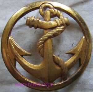 IN17278 - Insigne de béret, Coloniale, Troupes de Marine, embouti