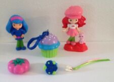 STRAWBERRY SHORTCAKE BLUEBERRY MUFFIN PLAYMATES MAGNETIC RING AND KEYCHAIN 7 PC