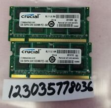 4GB KIT 2X 2GB DDR2  PC6400 PC2 6400 800 MHz 200pin  LAPTOP NOTEBOOK MEMORY