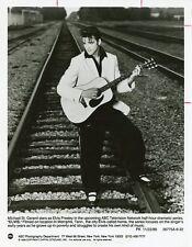 MICHAEL ST GERARD GUITAR RAILROAD TRACK PORTRAIT ELVIS PRESLEY 1989 ABC TV PHOTO