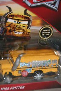 """DISNEY PIXAR CARS 3 """"MISS FRITTER"""" DELUXE MODEL, SHIP WORLDWIDE"""