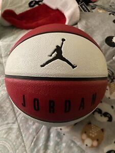 Jordan Basketball Full Size 29.5 Red And White Brand New