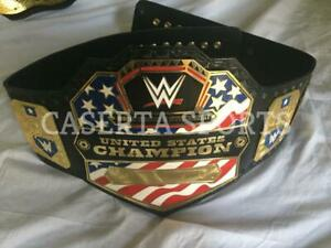 WWE United States Heavyweight Wrestling Championship Title Belt Gold Plated