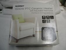 Tenergy 1500W Portable Space Heaters with Adjustable Thermostat New In Box