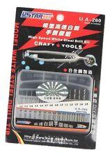 Modeler High Speed Micro White Drill Bit Set 14 Piece 0.2mm - 1.5mm orangeRX UK