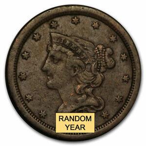 1849-1857 Braided Hair Half Cent VG-VF - SKU#209306