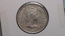 FIJI ISLANDS - 1957 SHILLING - COLONIAL ERA - PREDECIMAL COIN . Copper/Nickel.