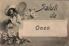 """CARTOLINA """" SALUTI DA ONZO """"  1936 X 94° RGT FANTERIA FANO C8-262"""