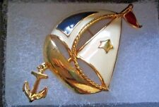 """Vintage Avon*SHIP AHOY PIN/BROOCH*3"""" X 1.5"""" *NEW IN STORE BOUGHT BOX*Rare 1990"""