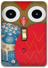 Cute Red Owl Retro Metal Switch plate Wall Cover Lighting Fixture SP707