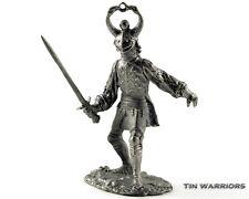 Burgundy knight 15cen Tin toy soldiers. 54mm miniature figurine. metal sculpture