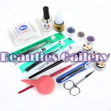 False Eyelashes Extension Set Kit Case Tweezers Brush Glue New Eye Lash Tools