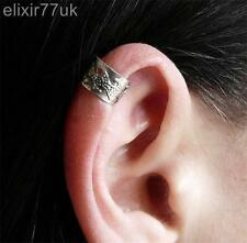 NEW VINTAGE SILVER EAR CUFF UPPER HELIX CARTILAGE CLIP-ON EARRING ROCK GOTH FAB