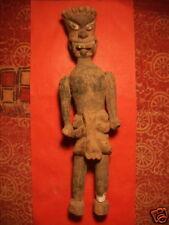 Ancienne Statuette en bois polychrome , Inde