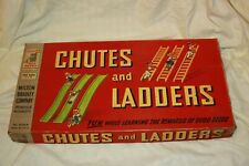 1956 Chutes & Ladders Milton Bradley Family Board Game Complete