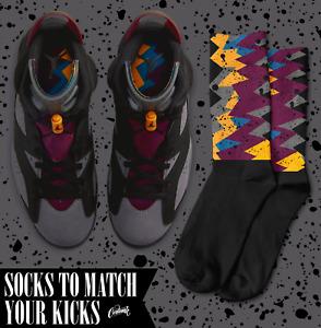 SPECKLE OG Socks for Air Jordan 6 Bordeaux Graphite Grey Maroon Charcoal Shirt