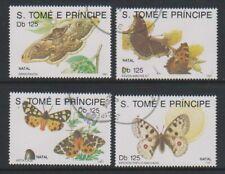 St Thomas & Prince Islands - 1991 Butterflies set - F/U (c)