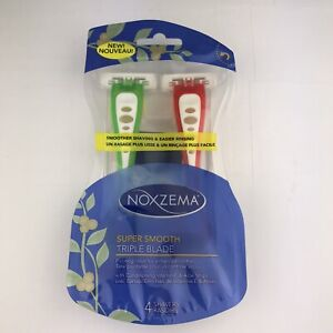 Noxzema Super Smooth Triple Blade Disposable Razors 4 Count