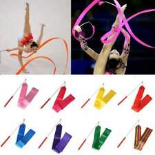 10 PCS x Colors Gym Ribbon Dance Rhythmic Gymnastic Streamer Baton Twirling Rod