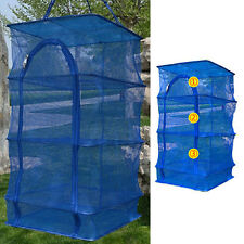 Outdoor Hanging Drying Tableware Food Dry Net 3 Layer Shelf Hang Cage Fish Rp
