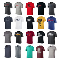NEW NIKE MEN T SHIRT AUTHENTIC TEE  DRI GRAPHIC SWOOSH JUST DO IT S-3XL