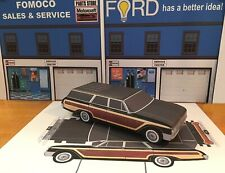 Papercraft 1962 Ford Country Squire station wagon paper model car 1pc. U-make