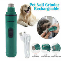 Dog Nail Grinder Electric Cat Nail Trimmer Clipper Rechargeable Pet Grooming Kit