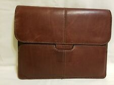 "TARGUS HUGHES Brown Leather Portfolio Slipcase for Apple iPad 11"" X 8.5"""