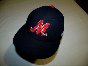 "Memphis Redbirds MiLB Black Hat/Stylized ""M"" Logo New Era 59Fifty USA 7 1/4"