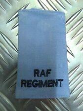Genuine British Army / RAF Regiment Rank Slide Light Blue Used