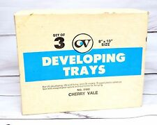 Set of 3 Film Developing Darkroom Acid fixing Rising Trays 8x10 Cherryvale NIB