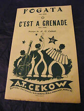 Partizione Fogata C'è quello di Grenade Un Cekow T 1951 Music Sheet