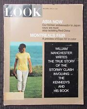 1967 April 4 LOOK Magazine VG 4.0 Jackie Onassis Kennedy