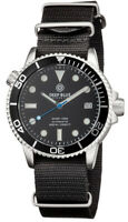 DIVER 1000 40mm AUTOMATIC DIVER BLACK DIAL - BLUE SECOND HAND- NYLON STRAP