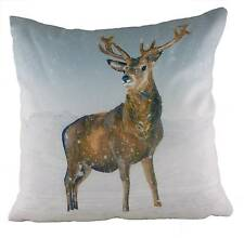 """cushion covers Stag Snow Scene Cushion Cover 17"""" 24983"""