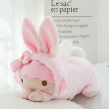 little twin pink cos rabbit fuzzy tissue box anime cover tissue holder decorate