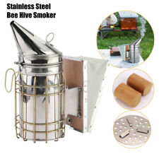 Pro Beekeeping Bee Smoker Tamer W/ Heat Shield Protect Equipment Stainless AU