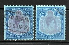 Bermuda 1938 2/- x2 used