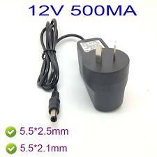 AU AC 100-240V Converter Adapter DC 12V 500mA 0.5A Power Supply 5.5 x 2.1MM