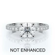 1.25 CT ROUND CUT D VS2 DIAMOND SOLITAIRE ENGAGEMENT RING 14K WHITE GOLD