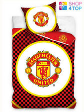 MANCHESTER UNITED DUVET SET BED COVER BEDDING OFFICIAL FOOTBALL SOCCER CLUB TEAM