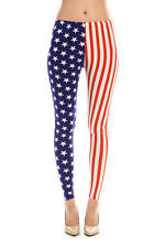 American Flag Ankle Jeggings Leggings Stars and Stripes Patriotic FREE SHIP