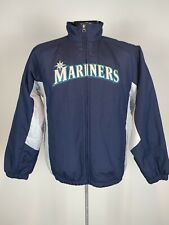 Youth Majestic Authentic Collection Seattle Mariners MLB Baseball Dugout Jacket